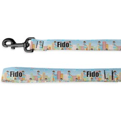 Superhero in the City Deluxe Dog Leash (Personalized)