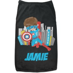 Superhero in the City Black Pet Shirt - Multiple Sizes (Personalized)