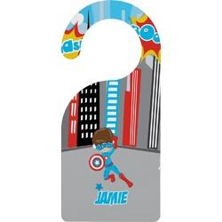 Superhero in the City Door Hanger (Personalized)