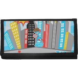Superhero in the City Canvas Checkbook Cover (Personalized)