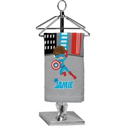 Superhero in the City Finger Tip Towel - Full Print (Personalized)