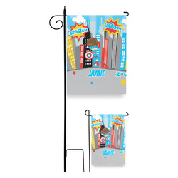 Superhero in the City Garden Flag (Personalized)