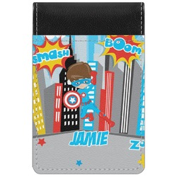 Superhero in the City Genuine Leather Small Memo Pad (Personalized)