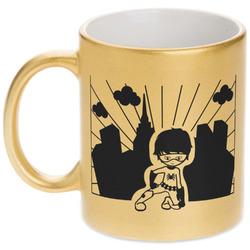 Superhero in the City Gold Mug
