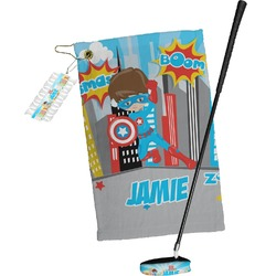 Superhero in the City Golf Towel Gift Set (Personalized)