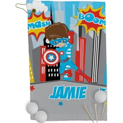 Superhero in the City Golf Towel - Full Print (Personalized)