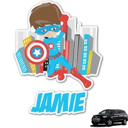 Superhero in the City Graphic Car Decal (Personalized)