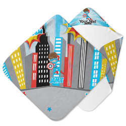 Superhero in the City Hooded Baby Towel (Personalized)