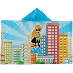 Superhero in the City Kids Hooded Towel (Personalized)