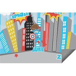 Superhero in the City Indoor / Outdoor Rug (Personalized)