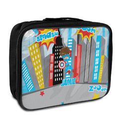 Superhero in the City Insulated Lunch Bag (Personalized)
