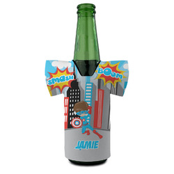 Superhero in the City Bottle Cooler (Personalized)