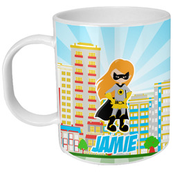 Superhero in the City Plastic Kids Mug (Personalized)