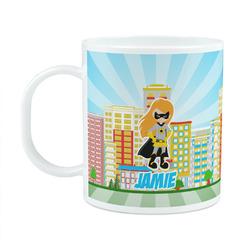 Superhero in the City Plastic Kids Mug (Personalized)