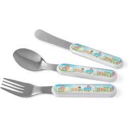 Superhero in the City Kid's Cutlery (Personalized)