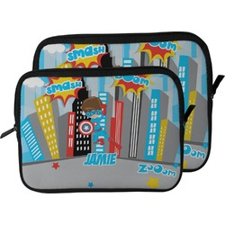 Superhero in the City Laptop Sleeve / Case (Personalized)