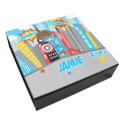 Superhero in the City Leatherette Keepsake Box - 3 Sizes (Personalized)