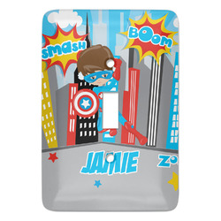 Superhero in the City Light Switch Covers (Personalized)