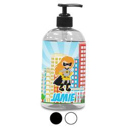 Superhero in the City Plastic Soap / Lotion Dispenser (Personalized)
