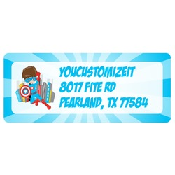 Superhero in the City Return Address Labels (Personalized)