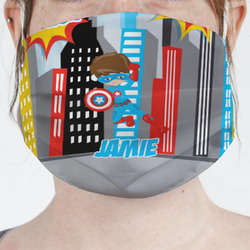 Superhero in the City Face Mask Cover (Personalized)