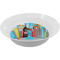 Superhero in the City Melamine Bowls (Personalized)
