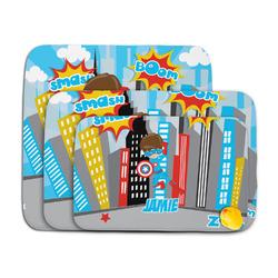Superhero in the City Memory Foam Bath Mat (Personalized)