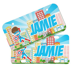 Superhero in the City Mini/Bicycle License Plates (Personalized)