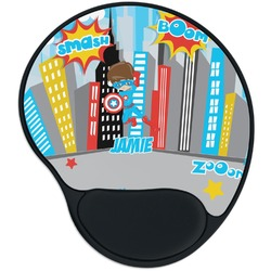 Superhero in the City Mouse Pad with Wrist Support
