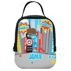 Superhero in the City Neoprene Lunch Tote (Personalized)