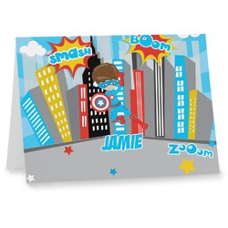 Superhero in the City Notecards (Personalized)