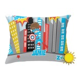 Superhero in the City Outdoor Throw Pillow (Rectangular) (Personalized)