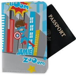 Superhero in the City Passport Holder - Fabric (Personalized)