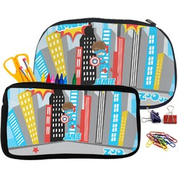 Superhero in the City Pencil / School Supplies Bag (Personalized)