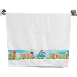 Superhero in the City Bath Towel (Personalized)