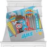 Superhero in the City Minky Blanket (Personalized)