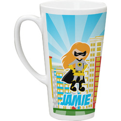 Superhero in the City Latte Mug (Personalized)