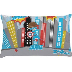 Superhero in the City Pillow Case (Personalized)