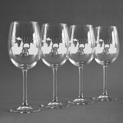 Superhero in the City Wine Glasses (Set of 4) (Personalized)