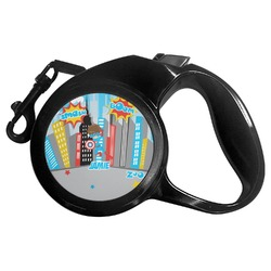Superhero in the City Retractable Dog Leash (Personalized)
