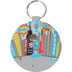Superhero in the City Keychains - FRP (Personalized)