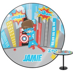 "Superhero in the City Round Table - 30"" (Personalized)"