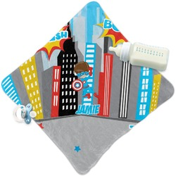 Superhero in the City Security Blanket (Personalized)