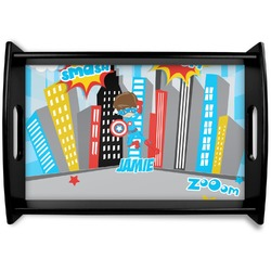 Superhero in the City Wooden Trays (Personalized)
