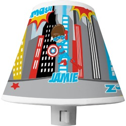 Superhero in the City Shade Night Light (Personalized)