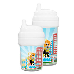Superhero in the City Sippy Cup (Personalized)