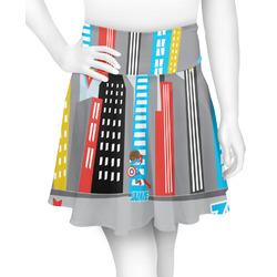 Superhero in the City Skater Skirt (Personalized)