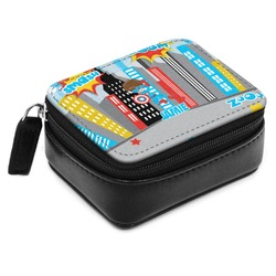 Superhero in the City Small Leatherette Travel Pill Case (Personalized)