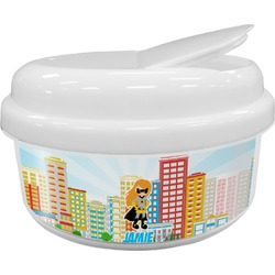 Superhero in the City Snack Container (Personalized)