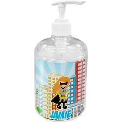Superhero in the City Acrylic Soap & Lotion Bottle (Personalized)